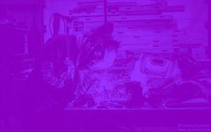 Métallière en train de souder - Atelier Metal'Rine