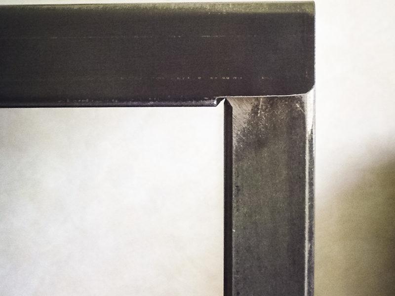 Étagère acier sur mesure détail tôle haute Métal'Rine