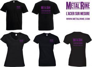 modèles tshirt noirs Metalrine