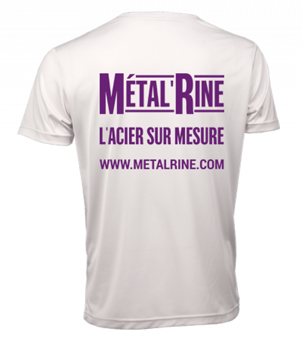 t-shirt blanc dos MetalRine