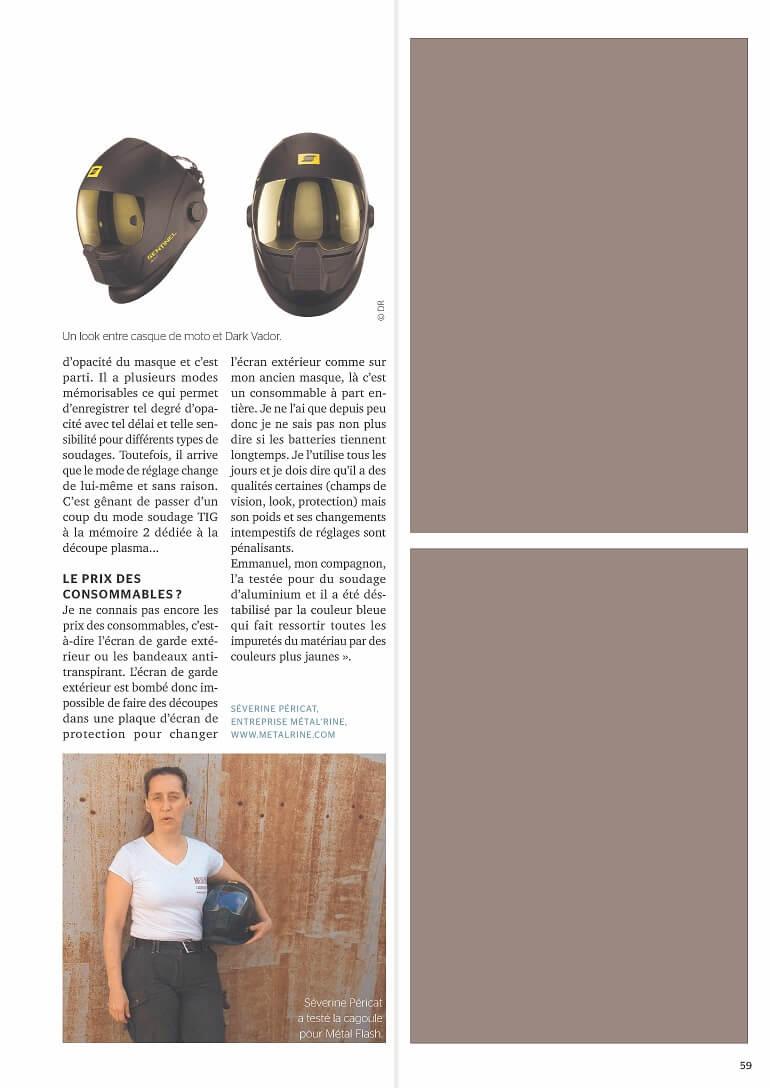 Article métalflash P2 Juillet2017 ArticleSentinelA50 MétalRine