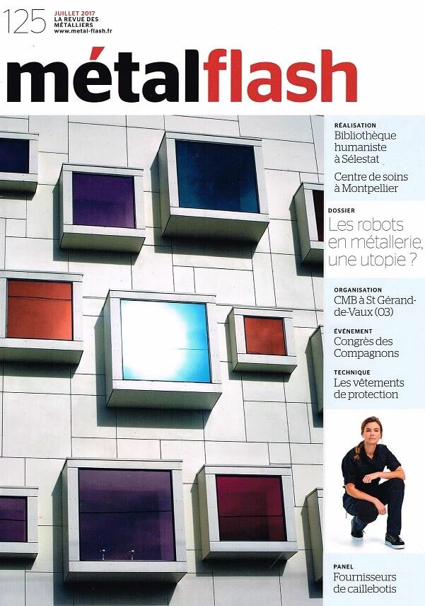 Article métalflash couverture Juillet2017 ArticleSentinelA50 MétalRine