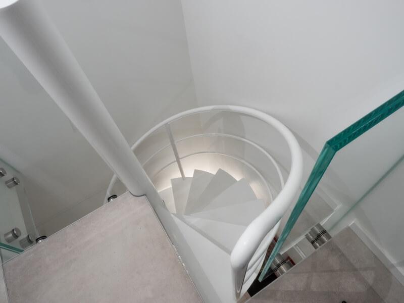 Escalier Hélicoïdal vue d'en haut réaliser sur mesure