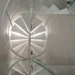 Escalier Hélicoïdal vue de dessus réaliser sur mesure