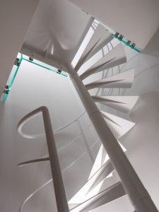 Escalier Hélicoïdal vue de côté réaliser sur mesure